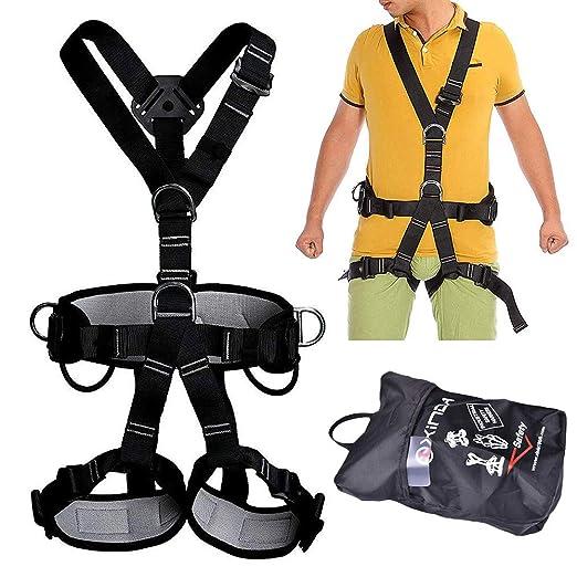 GYKFY Arnés de Escalada Cinturón de Seguridad de Cuerpo Completo ...