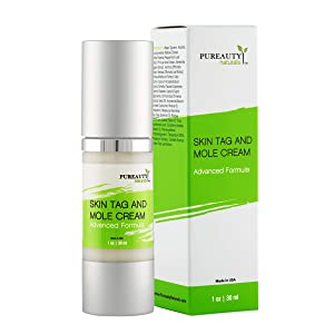 Skin Tag Mole And Wart Cream Infused with Essential Oils, Moisturizer with Advanced Natural Formula To Help Reduce The Appearance Tags, Moles, Warts - Pureauty Naturals. (Packaging 2)