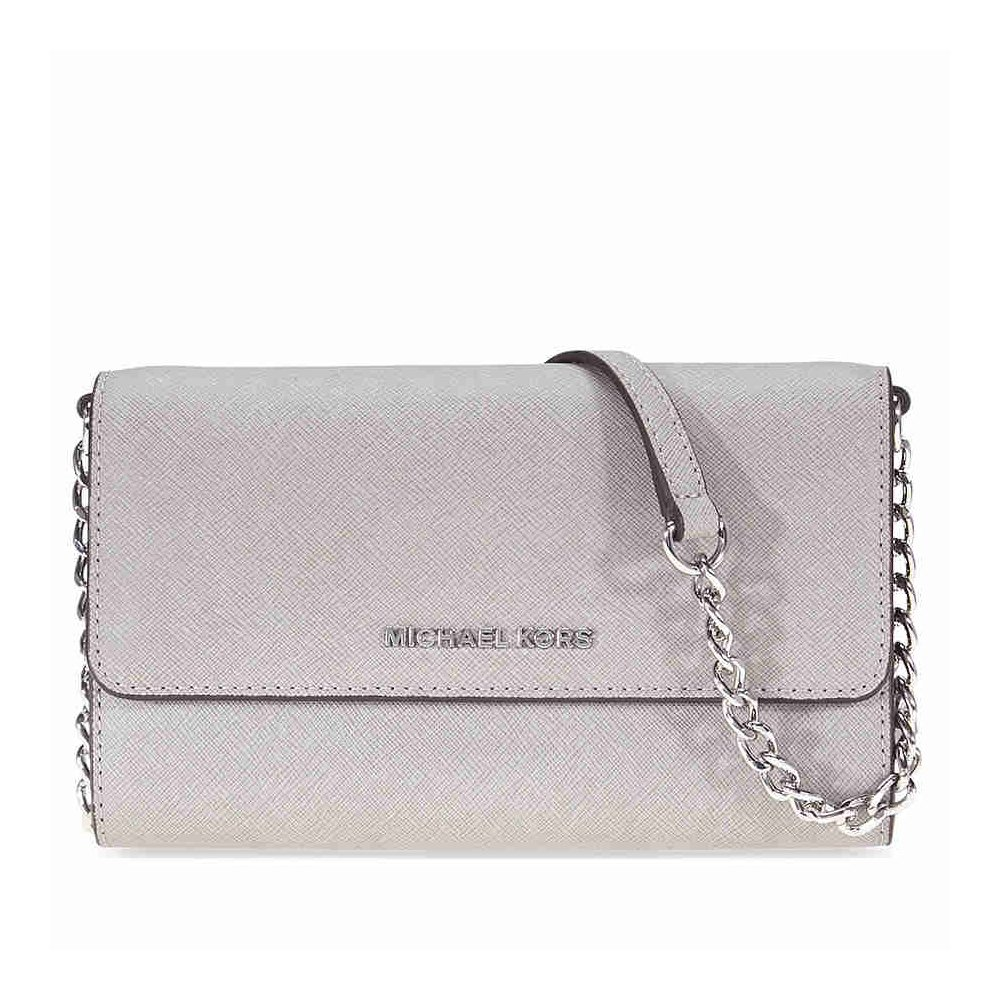 Michael Kors Jet Set Travel Large Phone Crossbody (Pearl Grey)