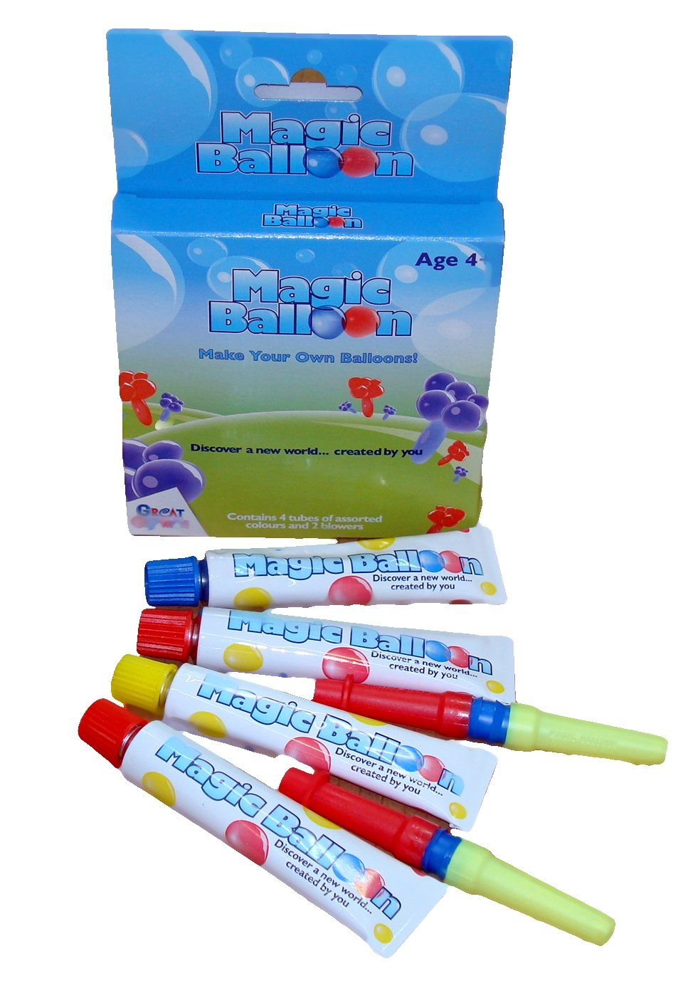 Great Gizmos GG7013 - Magic Balloon - 4 Tube - Boxed, assorted colours