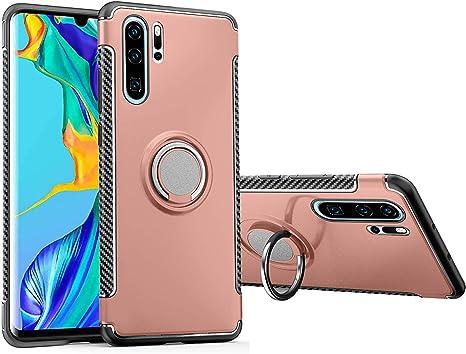 MaiJin Funda para Huawei P30 Pro (6,47 Pulgadas) Multifunción Anillo sostenedor movil de 360 Grados con función de Soporte Rugged Armor Cover Case (Oro Rosa): Amazon.es: Electrónica