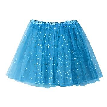 84d9739106 LuckyGirls Faldas de Baile de Mujer Tul con Estrella Casual Partido  Vestidos de Fiesta Mini (Talla Única