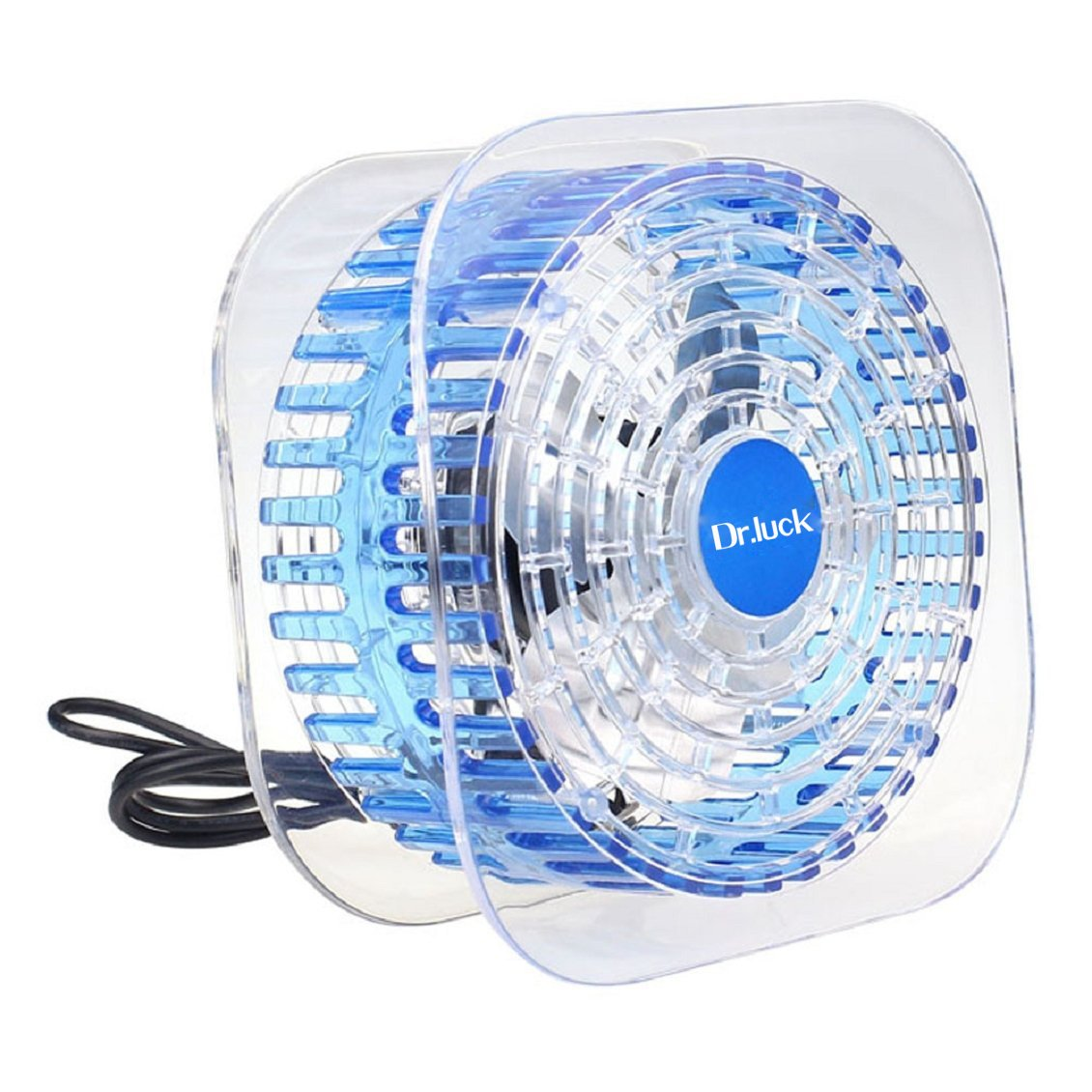 Drluck New Portable Mute Usb Cooler Cooling Mini Fan Transparent Mf 1130 Wiring Diagram Sky Blue Office Products