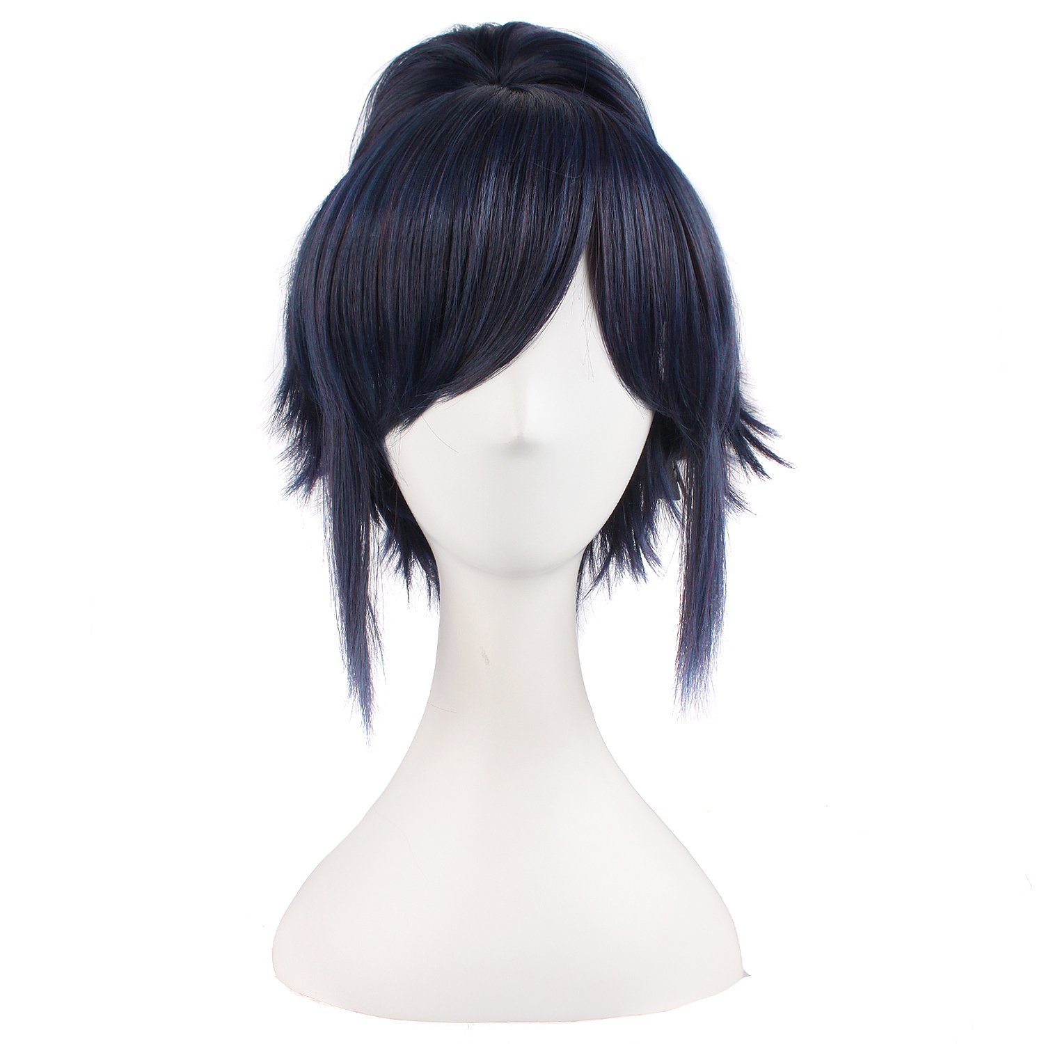 MapofBeauty 12''/30cm Ponytail Lovely Cosplay Hot Wig (Black Blue)
