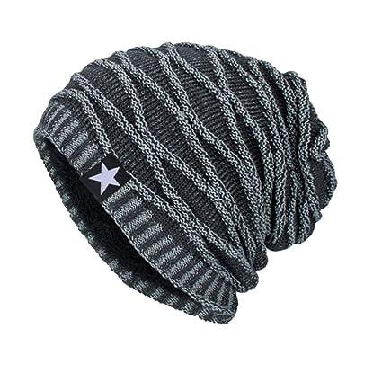 feteso Hombres Mujeres Baggy Beanie Hedging Crochet esquí cabeza sombrero  turbante tocado Cap d7785258bea