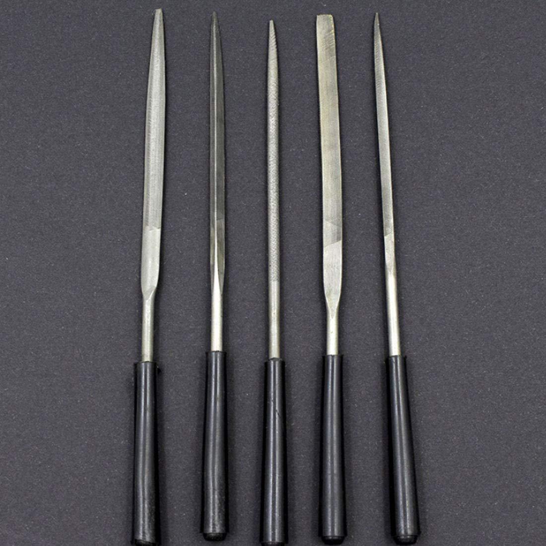 5pcs Needle Files Set for Jeweler Diamond Carving Wood Metal Glass Stone Craft