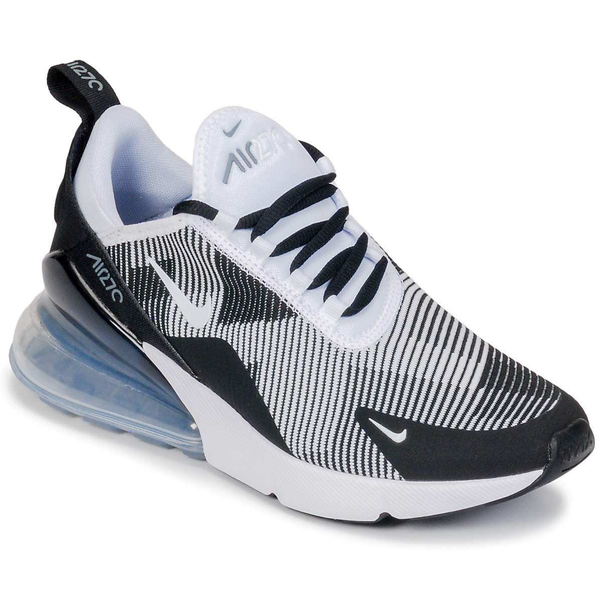 Amazon com nike kids air max 270 kjcrd gs black white cool grey running