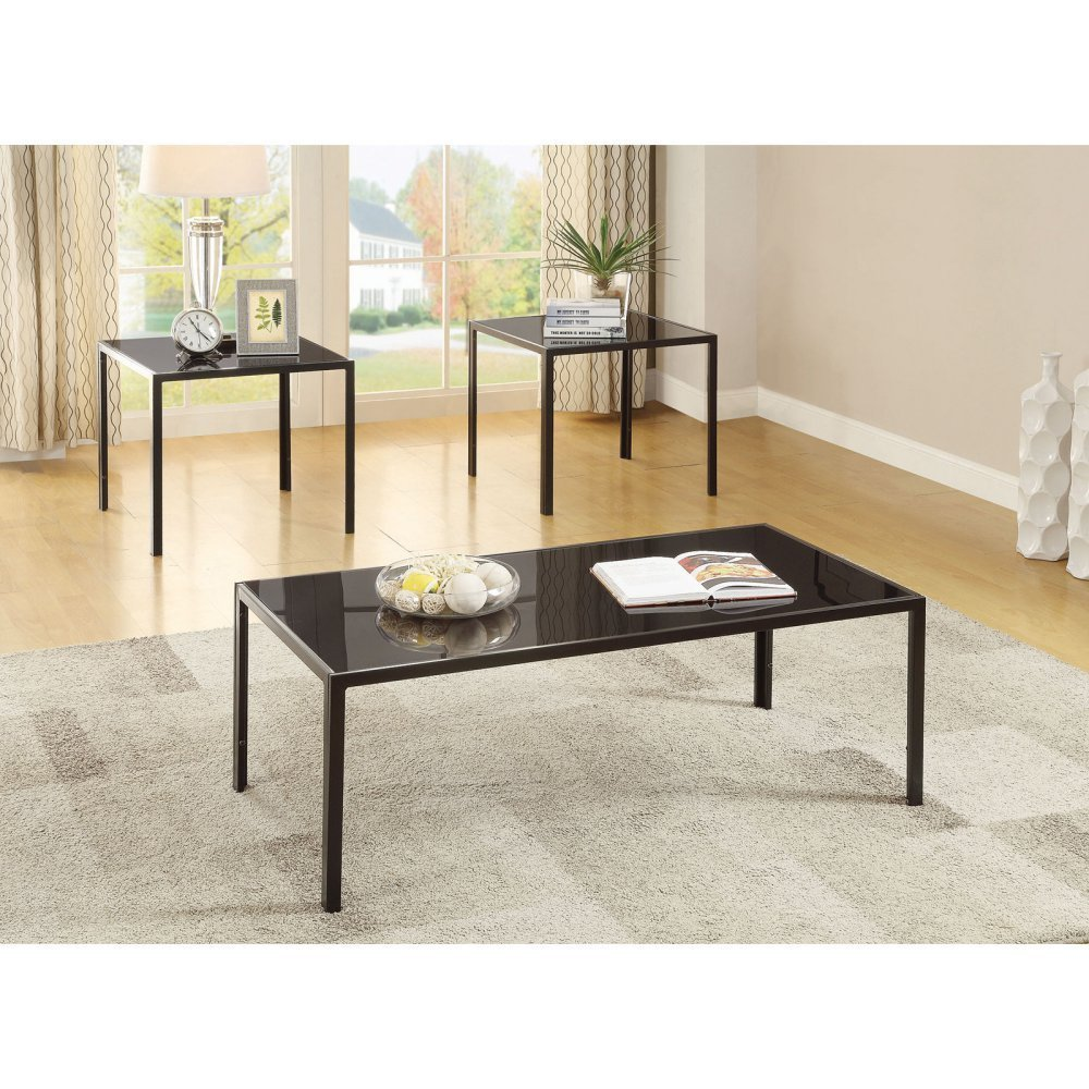 Coaster 720457-CO 3 Piece Coffee Table Set In Antique Pewter, Antique Pewter by Coaster Home Furnishings