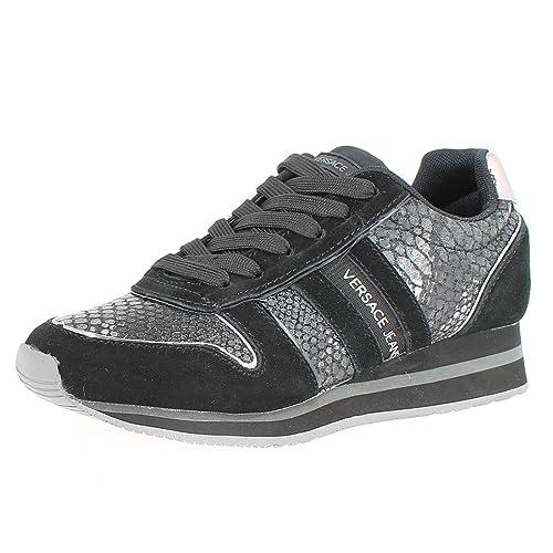 Versace Jeans Snake Runner Donna Sneaker Nero  Amazon.it  Scarpe e borse f7c151b0748