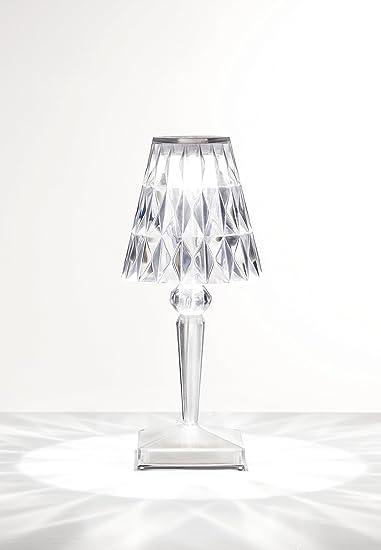 Kartell Battery Lampada Da Tavolo Trasparente Cristallo 12 X 26 X 12 Cm Amazon It Casa E Cucina