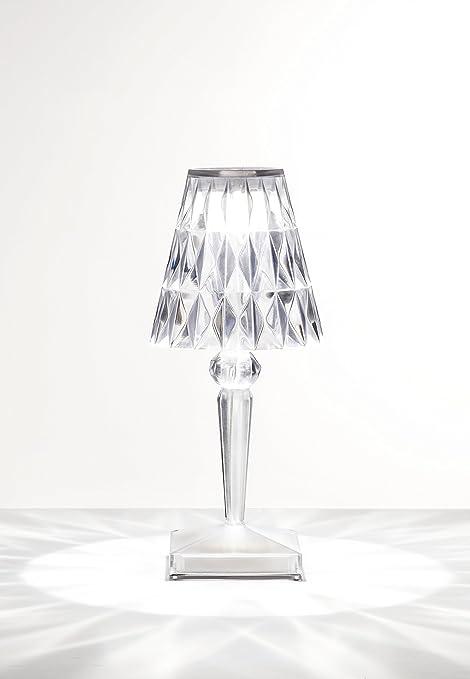 Kartell Tavoli Da Esterno.Kartell Battery Lampada Da Tavolo Cristallo Amazon It Illuminazione