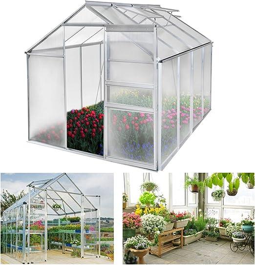 HENGDA® Invernadero para tomates hogar jardín Invernadero Jardín Planta Cristal Invernadero aluminio: Amazon.es: Jardín