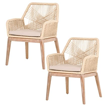 Amazon Com Orient Express Furniture Loom Arm Chair Kd Sand Set