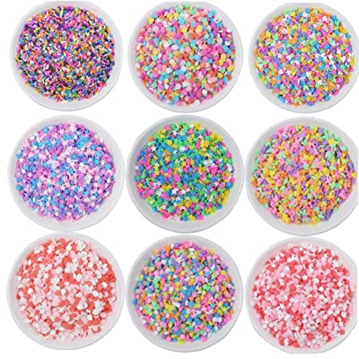 Slime Filler Addition Accessories Clay Fluffy Slime Supplies Beads Mud Toys Kit: Kitchen & Dining