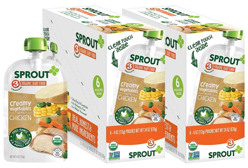 Sprout Organic Stage 3 Baby Food Pouches Creamy Vegetables W