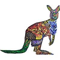 Puggle Puzzle Kangaroo Wooden Puzzle - This Beautifully Illustrated Kangaroo Jigsaw Puzzle Showcases 19 Unique…
