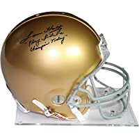 """$569 » Lou Holtz Signed Notre Dame Authentic Full Size Helmet w/""""Play Like a Champion Today"""" Insc. - Steiner Sports Certified"""