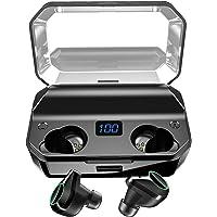 【2019革新モデル 480時間連続駆動 8000mAH大容量充電ケース付き 40m伝送距離 LEDディスプレイ 最新Bluetooth5.0+EDR搭載】 Bluetooth イヤホン Hi-Fi高音質 3Dステレオサウンド 完全ワイヤレス イヤホン 自動ペアリング 両耳 左右分離型 AAC8.0/CVC8.0ノイズキャンセリング対応 ブルートゥース イヤホン IPX7完全防水 音量調整 両耳通話 技適認証済/Siri対応/iPhone/iPad/Android対応