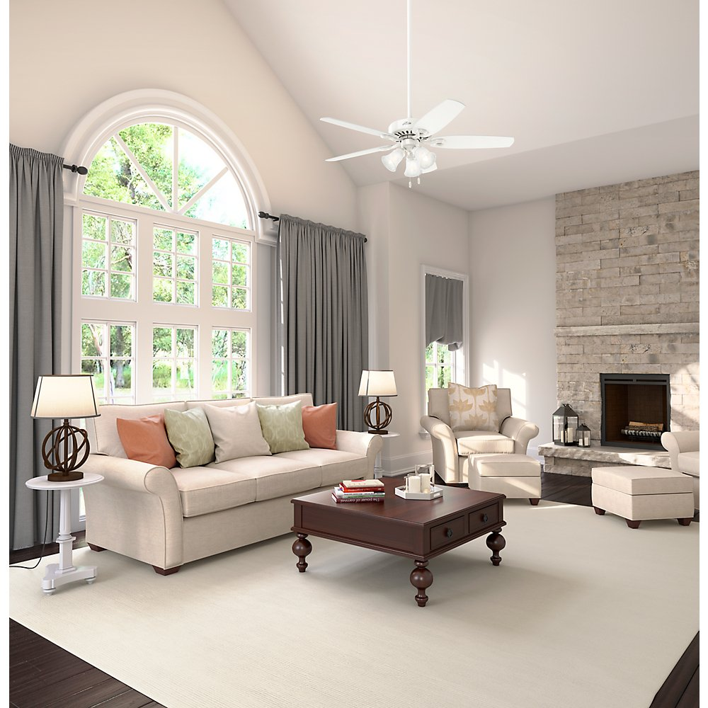 Hunter Indoor Ceiling Fan, with pull chain control - Builder Plus 52 inch, White, 53236 by Hunter Fan Company (Image #9)
