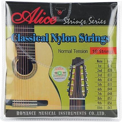 Alice Clear Nylon Cuerdas normal .026-.063 guitarra juego de ...