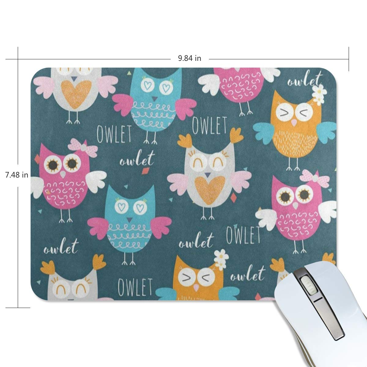 Amazon.com : Funny Mouse Pad Personalized Happy Bird Owlet Colorful Rectangle Shape for Office Computer Work (9.84 x 7.48 inch) : Office Products