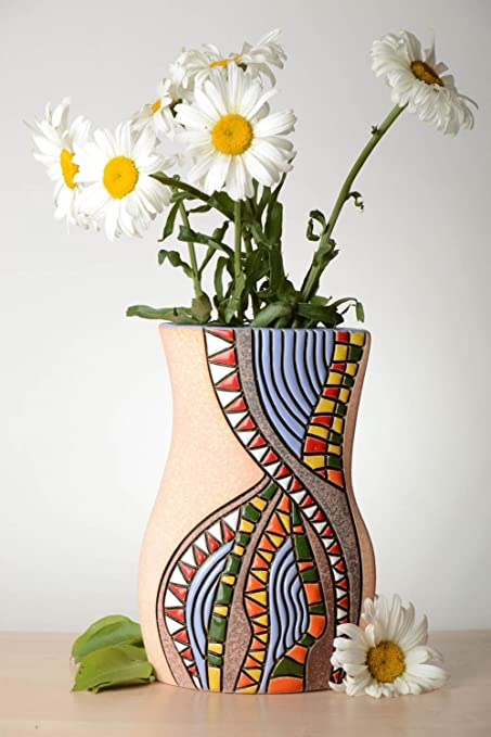 Amazon Unusual Handmade Ceramic Vase Beautiful Flower Vase