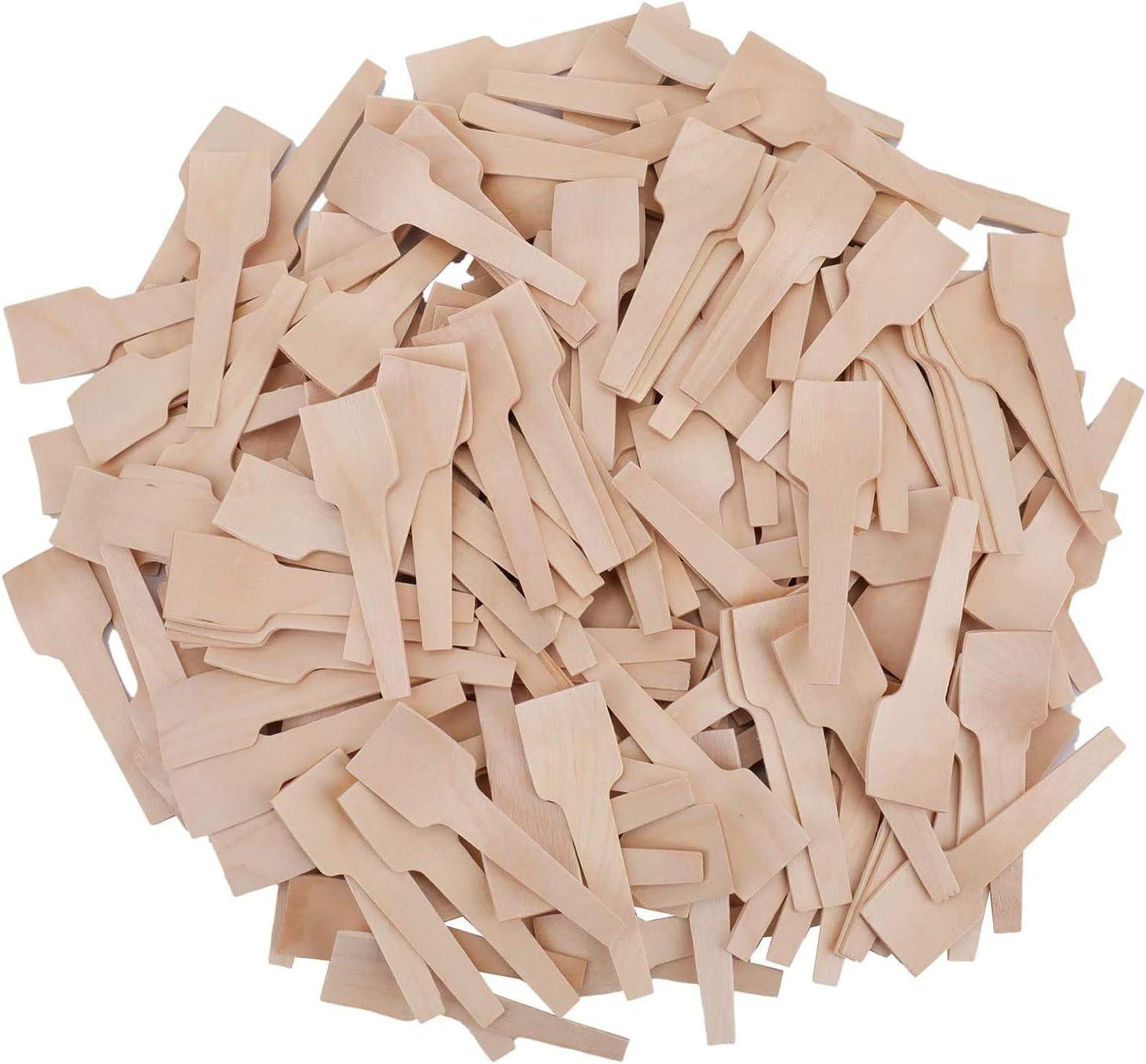 7 cm Bekith 400 mini cucharas de madera cuchara desechable para manualidades exfoliantes org/ánicos de az/úcar degustaci/ón y muestreo