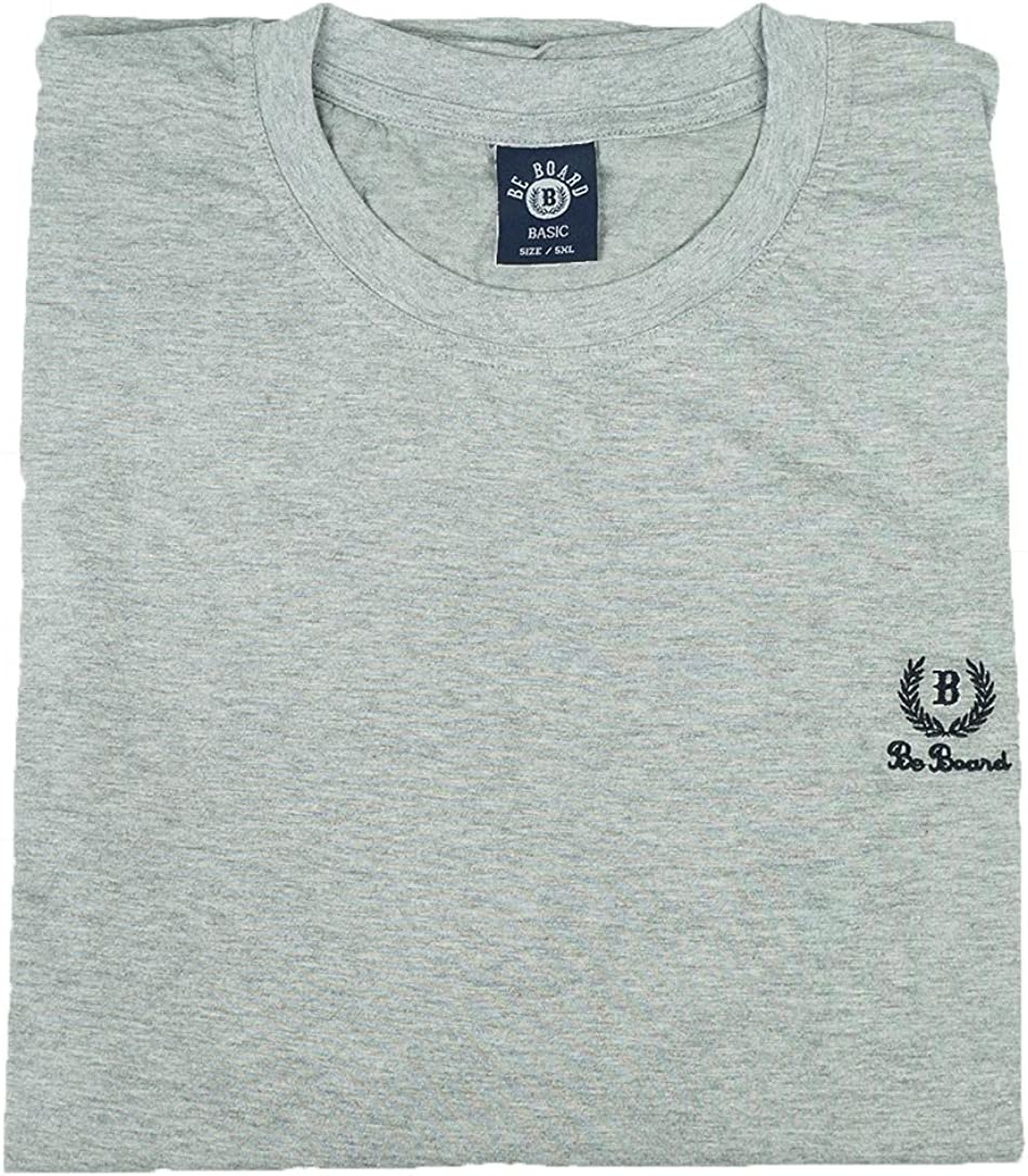 BE BOARD T Shirt Uomo Manica Corta Girocollo Taglie Forti Art 908CONF