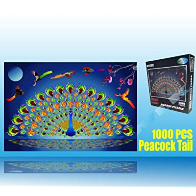 Marvelous Monkey 1000 PCS Gorgeous Peacock Jigsaw Puzzles Game for Adults and Kids: Toys & Games