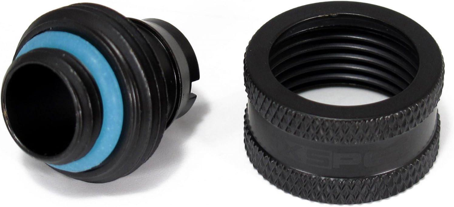 XSPC G1//4 Compression Fitting 7//16 ID 5//8 OD 16//11mm V2 Pack of 8 Matte Black