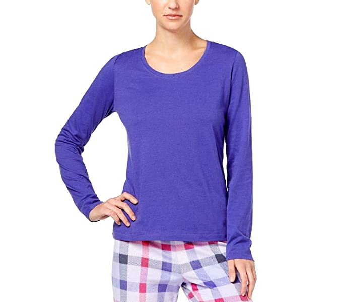 d34019b1efbf Jenni by Jennifer Moore Women's Sleepshirt Solid Purple Long-Sleeve ...
