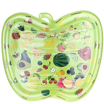 TOYANDONA Water Mat Toys Inflatable Apple Shape Inflatable Patted Pad Water Cushion for Stimulation Growth Early Development (Green): Toys & Games