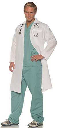 5f5917216ef Amazon.com  Underwraps On Call Mens Adult Doctor Costume  Clothing