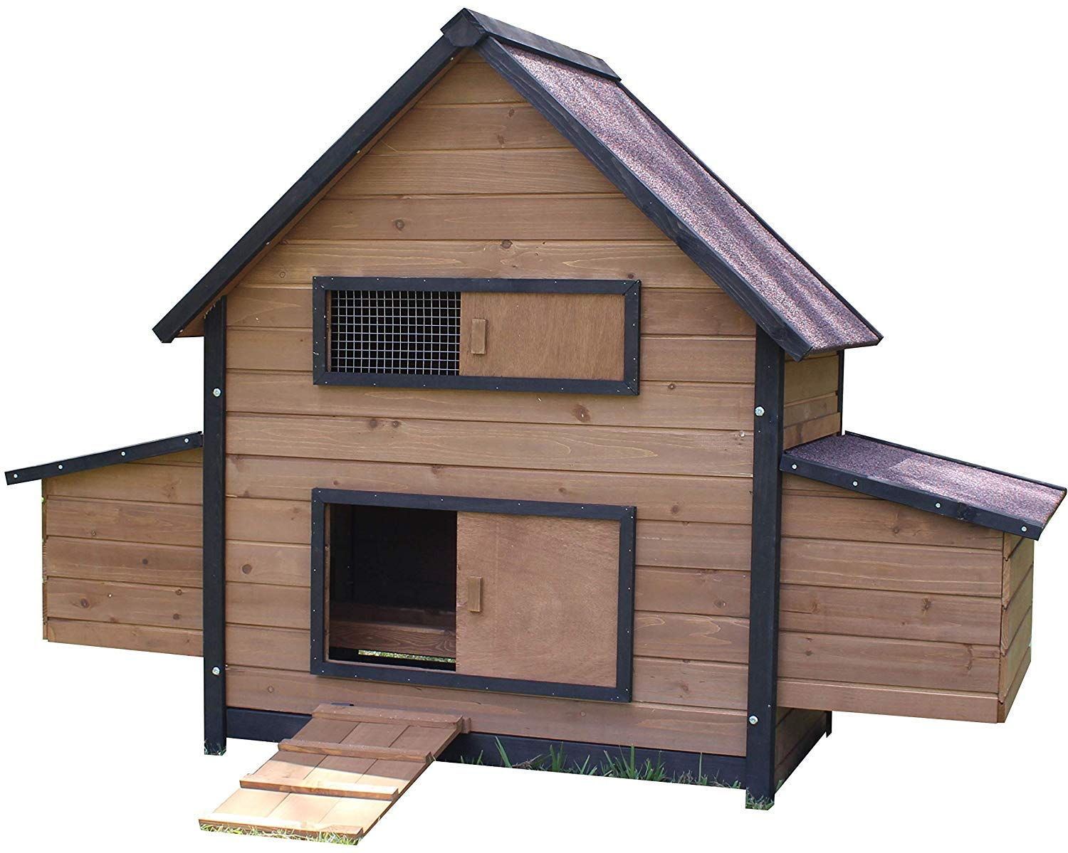 Large with Run Brunswick Double Nest Box Coop (with Optional Run) (Large with Run)