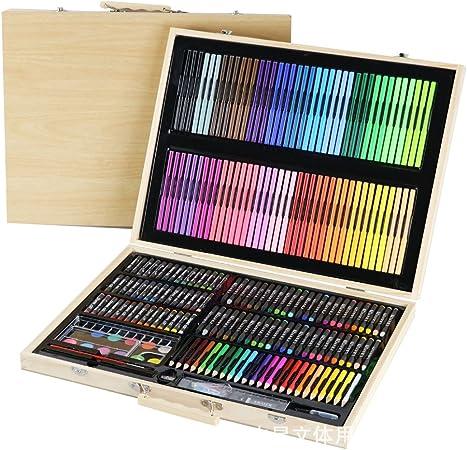 Estuche Colores Art Supply Wood Luxury Artist Set de pintura, pintura y accesorios Pintura Inspiración Art Case Pink, Arte portátil y suministros para colorear, 245 piezas, Regalos para niños: Amazon.es: Hogar