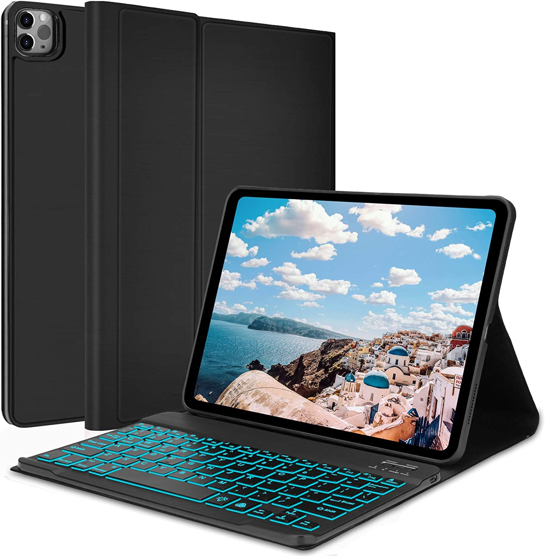 Keyboard Case for iPad Pro 11 2021, iPad Pro 11 2020 (2nd Generation), iPad Pro 11 Case with Keyboard 2018 - Wireless Detachable - Auto Wake & Sleep - Pencil Holder - iPad Pro 11 inch Keyboard,Black