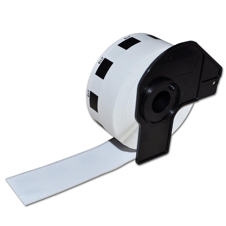 Confezione da 5 Compatibile Brother Bianco Indirizzo Etichette DK-11219 12mm il Giro