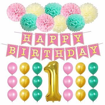 Amazon.com: Suministros para fiesta de primer cumpleaños ...