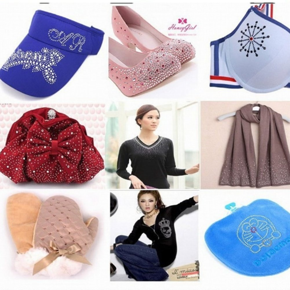 a7a1cd2b1bcb Generic ss16 1440pcs   Clothes Shoes Dresses DIY Decorations Blue Zircon  Hotfix Strass Rhinestones Glue Backing Iron On Crystal Diamonds  Buy Online  at Low ...
