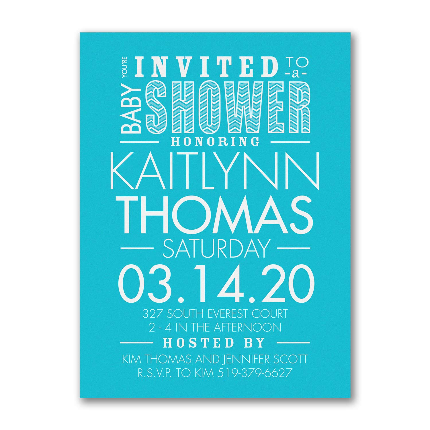 1225pk Little Typography - Baby Shower Invitation-Baby Shower Invitations