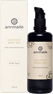 product image for Annmarie Skin Care Coconut Body Oil - Herb-Infused Moisturizer with Extra Virgin Coconut Oil + Rooibos (100 Milliliters, 3.4 Fluid Ounces)