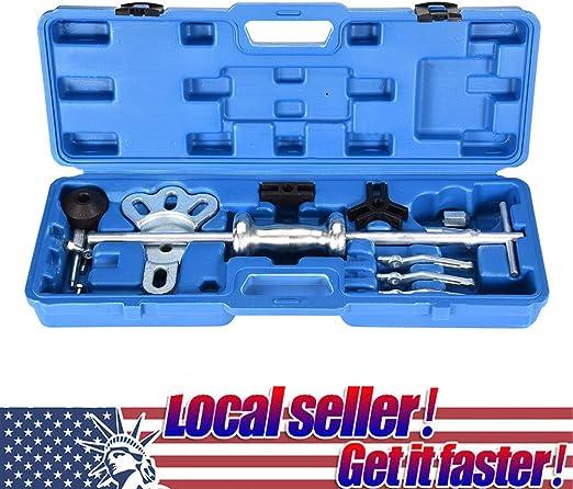 16Pc Axle Slide Hammer Dent Panel Puller Set Internal External Use Tool Kit New