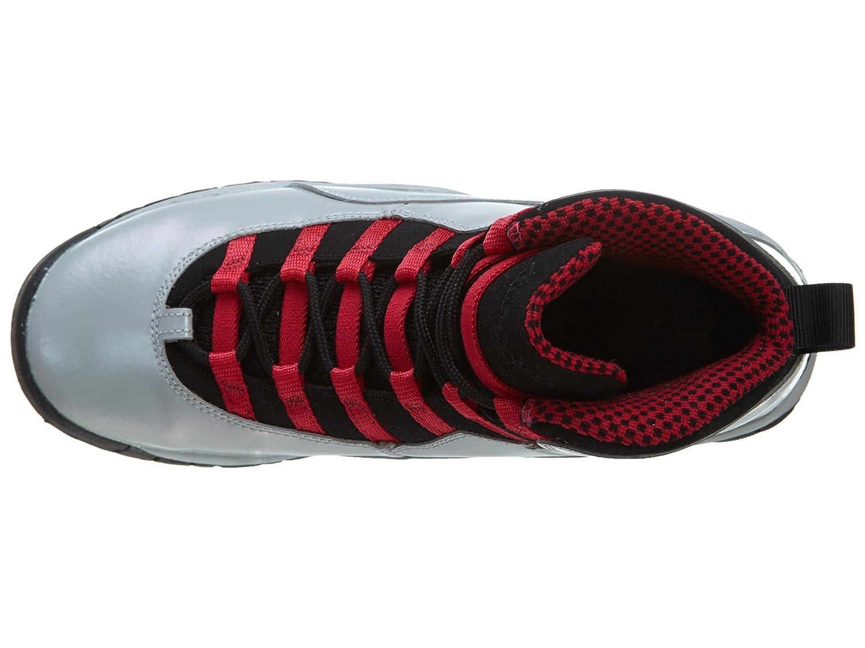 Nike Girls Air Jordan 10 Retro Kids Shoes Sneakers Wolf Grey//Legion Red//Black 87211-009 SIZE: 5Y