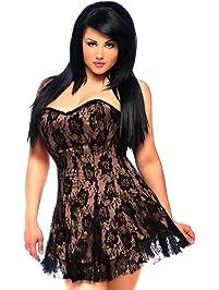 DaisyCorsets Women's Lavish Lace Corset Dress