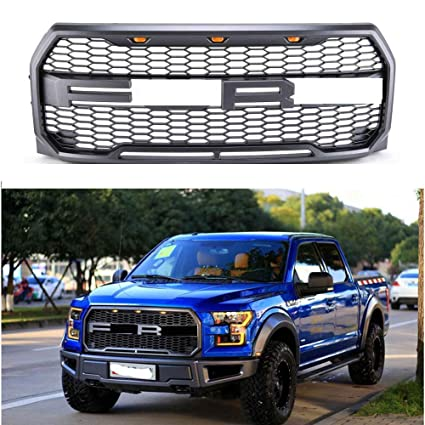 Amazon Com Motorfansclub Front Grill Fits 2015 2016 2017 Ford F150