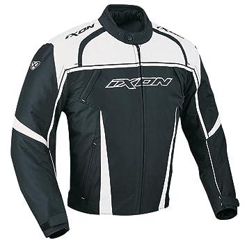 Chaqueta Moto textil Ixon Typhon negro blanco: Amazon.es ...