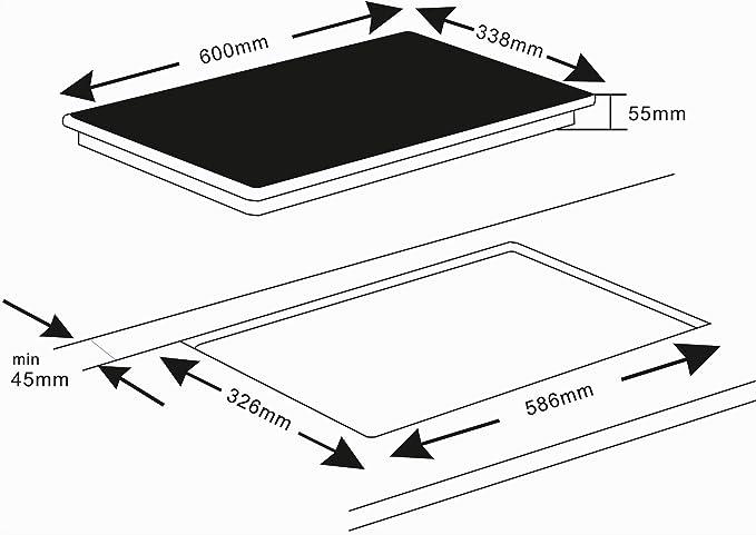 K & H doble Hornillo eléctrico vitrocerámica HC-3402