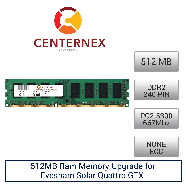512MB RAM Memory for Evesham Solar Quattro GTX (DDR25300 NonECC) Desktop Memory Upgrade by US Seller