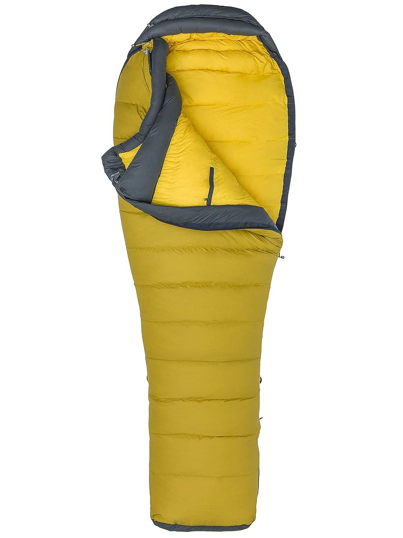 マーモットウインドリバーロング、ミイラ、エクストラロング、グースフェザーフィル650、非常に軽くて暖かいメンズ寝袋、ゴールデンパーム/スレートグレー、198 cm   B07L6Z7BWC