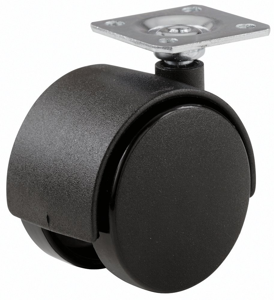 Shepherd Hardware 9401 1 5/8 Inch Office Chair Caster, Twin Wheel,  1 1/2 Inch Sq. Plate, 40 Lb Load Capacity, 2 Pack     Amazon.com